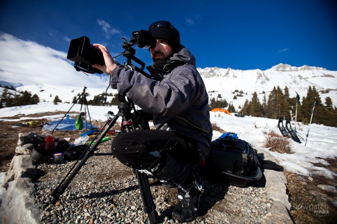 Aaron shooting with the F55